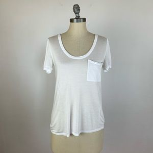 Club Monaco White Pocket Tee